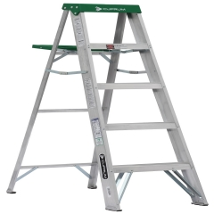 Escalera tijera de aluminio metros y 5 pelda os for Escalera de aluminio extensible 9 metros