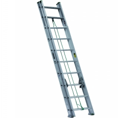 Escalera telescopica extensi n de aluminio metros y for Escalera de aluminio de 8 metros