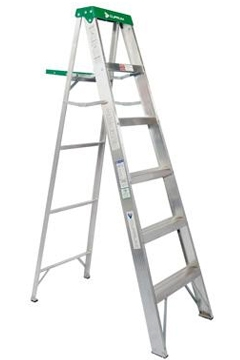 Escalera tijera de aluminio metros y 6 pelda os for Escaleras tijera