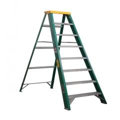 Escalera tijera fibra de vidrio metros y 8 pelda os for Escaleras 15 metros