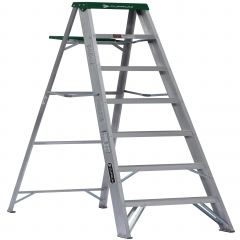 Escalera tijera de aluminio metros y 7 pelda os for Escalera aluminio 2 peldanos