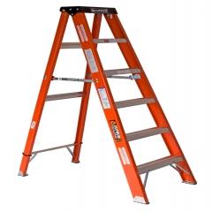 Escalera de tijera fibra de vidrio metros y 6 for Escaleras 10 peldanos de tijera