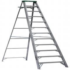 Escalera tijera de aluminio metros y 12 pelda os for Escalera de aluminio de 3 metros