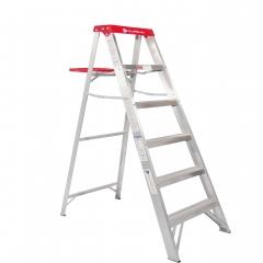 Escalera de tijera de aluminio metros y 6 pelda os for Escalera de aluminio extensible 9 metros