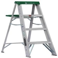 Escalera tijera de aluminio metros y 4 pelda os for Escalera de aluminio extensible 9 metros