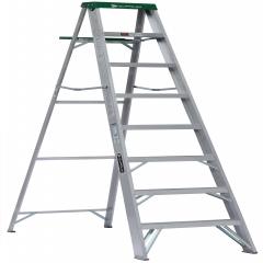 Escalera tijera de aluminio metros y 8 pelda os for Escalera 8 metros